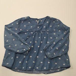 hm-moden Tops - HM toddler girl chambray shirt