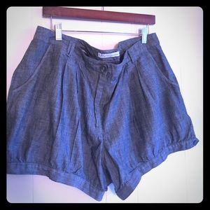 French Connection Pants - Chambray bubble shorts