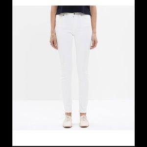 Madewell Denim - Madewell Skinny Skinny Higher Riser in White