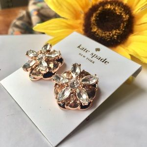 Kate Spade Fame and Flowers crystal earrings