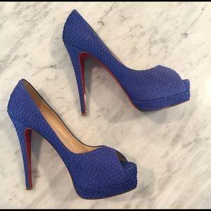 Christian Louboutin Python heels 38.5/8.5