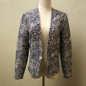 H&M blue patterned blazer