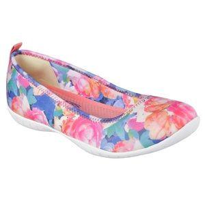 Skechers Shoes - SKECHERS FLORAL BOUQUET BALLET FLAT SNEAKERS