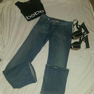 Bebe flair leg jeans sz 28
