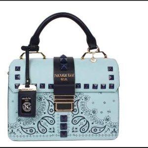 Nicole Lee Handbags - 🆕 Blue Delores Faux Leather Shoulder Bag