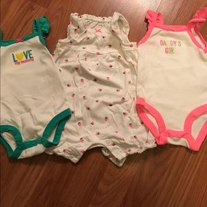 Other - Set of 3. One romper and two tank onesies. 3 month