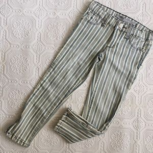 Tractr Other - Girls Tractr Slim Ankle Zip Striped Jeans