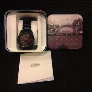 Fossil Other - Fathers Day?? Fossil NWT black men's watch.