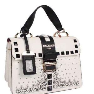 Nicole Lee Handbags - 🆕 White Delores Faux Leather Shoulder Bag