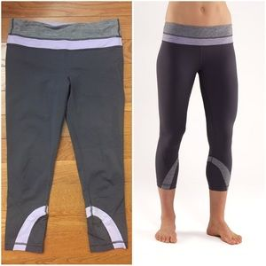 Lululemon Run Inspire Crop grey lilac size 6