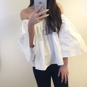 Tops - Boutique-Back in Stock Whiteoffshoulder summer top