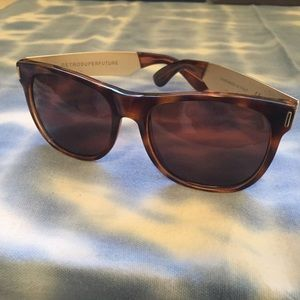 RetroSuperFuture Accessories - RetroSuperFuture tortoise/gold sunglasses