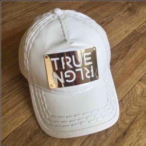 New True Religion Unisex White Hat Cap