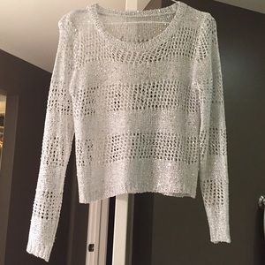 Sweaters - Crochet sequins sweater.