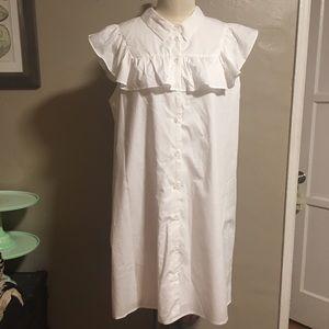 Who What Wear White Ruffle Dress Size XXL