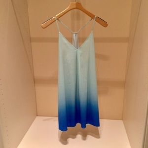 Gorgeous silk aqua ombre Alice & Olivia mini dress