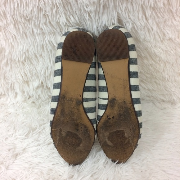 Madewell Shoes - MADEWELL blue+cream porch stripe skimmer flats