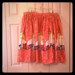 Pinup Girl Clothing - Mary Blair Pink Train Skirt
