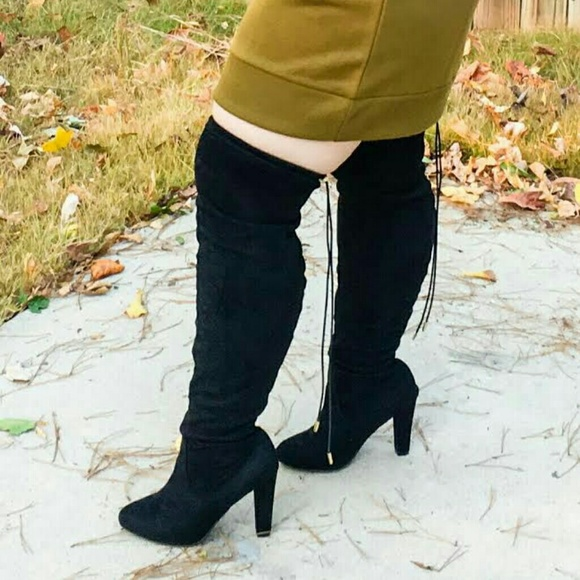 knee high boots wide calf plus size 7w from s