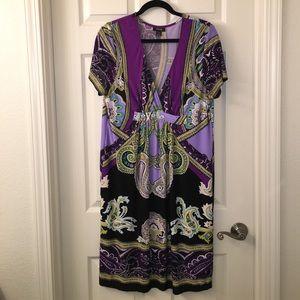 Snap Dresses & Skirts - purple BOHO slinky stretchy Summer Dress sz 1X