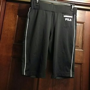 Fila Pants - Wide waistband crop work out pants