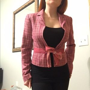 DONATED Miss Me Sparkly Pink Blazer