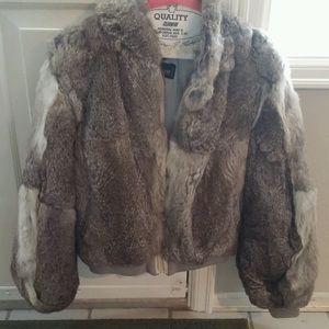 Fabulous Furs Jackets & Blazers - Rabbit fur zip up coat