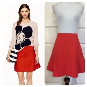 J. Crew Fluted skirt in double crepe