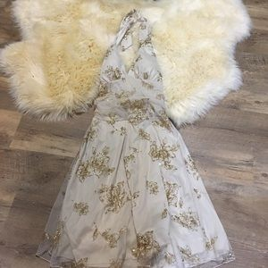 Ruby Rox Dresses & Skirts - Creme Glittery Rose Dress