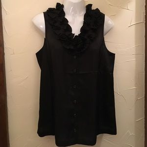 J. Crew Tops - 100% Silk Black Button Down Blouse from J. Crew