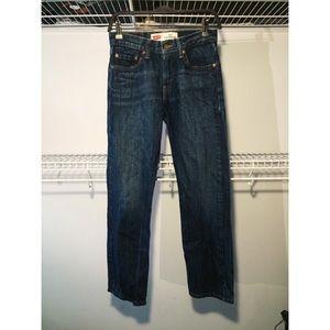 Reformation Denim - Levis VTG 514 slim straight dark denim jeans sz 27