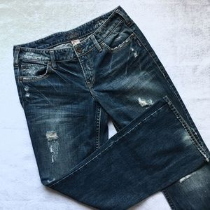 Silver Jeans Denim - $15 Silver Jeans Aiko Distressed Flare Leg Denim