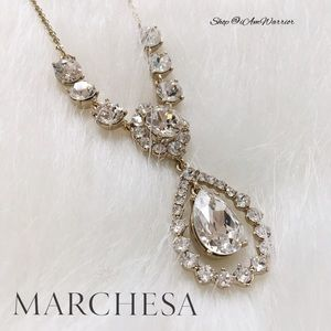 Marchesa Jewelry - 🆕NWT Marchesa crystal pear drop necklace