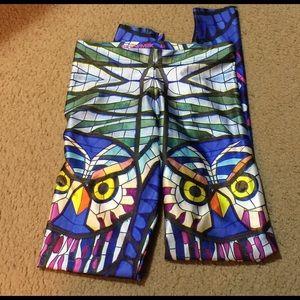 Blackmilk Pants - RARE BlackMilk Glass Owl leggings