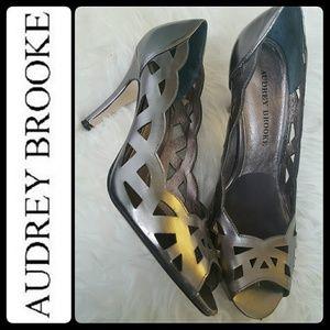 Audrey Brooke Shoes - Audrey Brooke Peep Toe Pumps