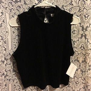 Stella Luce Tops - Cute black velvet top
