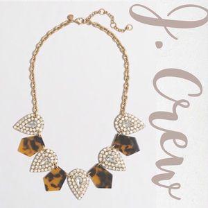 J. Crew Jewelry - 🆕J. Crew Tortoise & Crystal Necklace