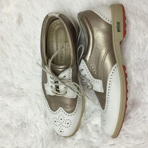 Ecco Shoes - Ecco size 36 Oxford silver/white shoes
