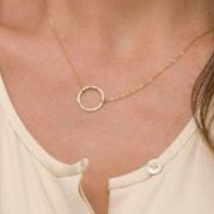 WILA Jewelry - 🌸SALE 14K Gold Plated Minimalist Circle Necklace.