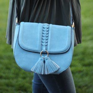 Red & Moon Handbags - Tassel Saddle Crossbody