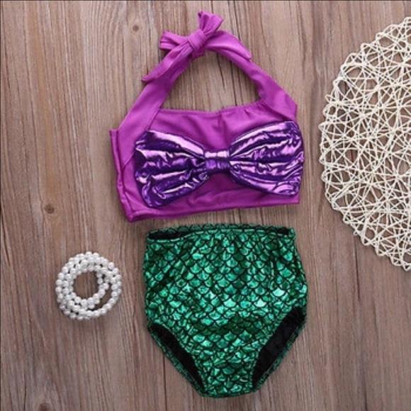 ef9d9b90bf Swim   Last Onelittle Mermaid 2pc Bathing Suit   Poshmark