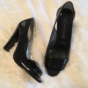 Steven by Steve Madden Shoes - 🆕 Madden Black Patent Cut Out Chunky Heel Pumps