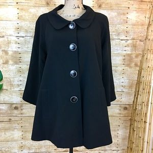 Jackets & Blazers - Vintage Black Swing Jacket