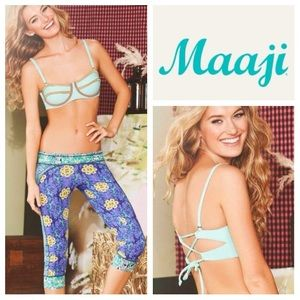 Maaji Other - NEW!  Maaji 'Minty Mistral' bustier bikini top M