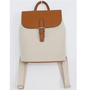Canvas and Faux Leather backpack