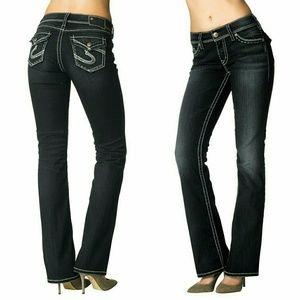 Silver Jeans Denim - Silver Jeans Natsuki Curvy Fit Flap Pocket Jeans