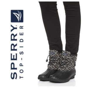 LIKE NEW!  Sperry TopSider Saltwater duck boots
