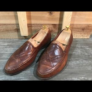 Santoni Other - Santoni Woven Leather Slip On