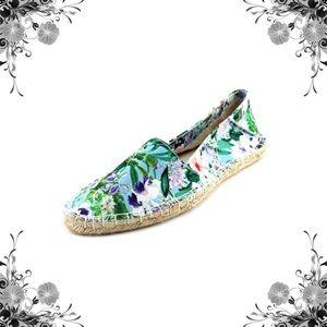 Report Signature Shoes - Sphinx Blue Floral Print Espadrilles