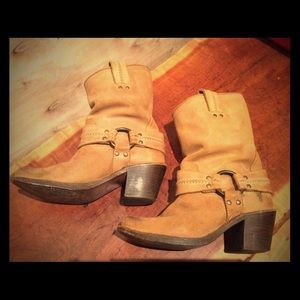 Frye Boot Carmen Harness Short - Tan